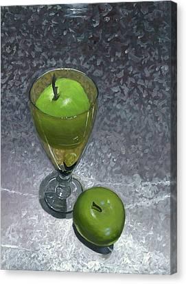 Still Life With Apples Canvas Print by Karyn Robinson