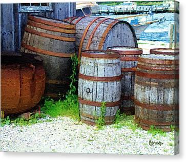 Still Life With Barrels Canvas Print by RC DeWinter