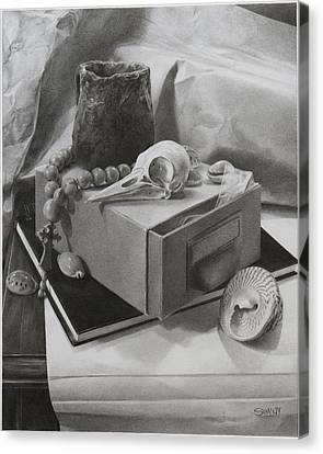 Still Life With Beads Canvas Print by Alexander Sim