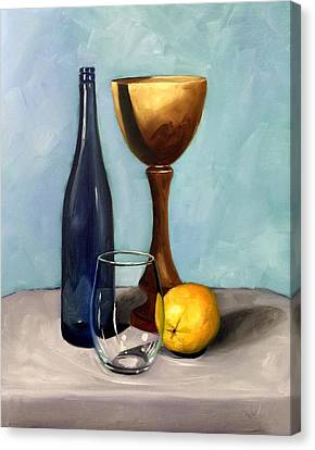 Still Life With Blue Bottle Canvas Print