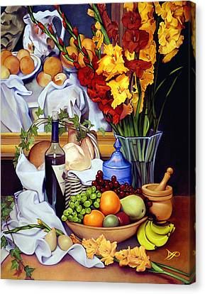 Wooden Bowls Canvas Print - Still Life With Cezanne by Patrick Anthony Pierson
