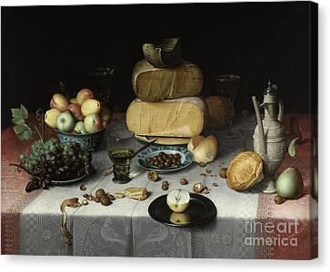 Still Life With Cheese Canvas Print by Floris Claesz van Dyck