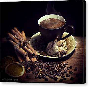 Still Life With Coffee Canvas Print by Magda  Bognar