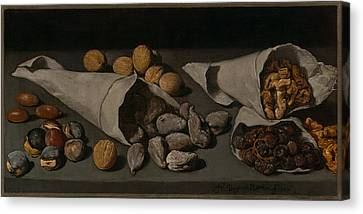 Still Life With Dried Fruit Canvas Print