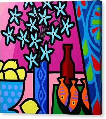 Still Life With Egyptian Curtain  Canvas Print