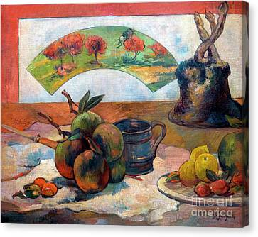 Still-life With Fan, Nature Morte A L'eventail, By Paul Gauguin, Canvas Print by Peter Barritt