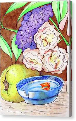 Still Life With Fish Canvas Print by Loretta Nash