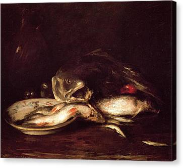 Still Life With Fish Canvas Print - Still Life With Fish by William Merritt Chase