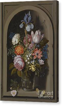 Still Life With Flowers Canvas Print by Celestial Images