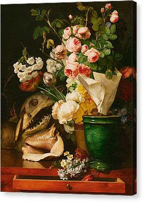 Still Life With Flowers Canvas Print by Antoine Berjon