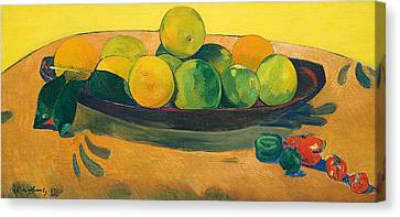 Still Life With Fruit And Peppers Canvas Print by Paul Gauguin