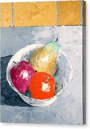 Still Life With Fruit In Bowl Canvas Print
