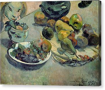 Still Life With Fruit Canvas Print by Paul Gauguin