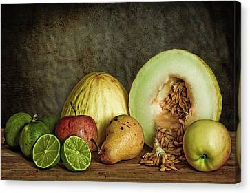 Still Life With Fruit Canvas Print by Stefan Nielsen