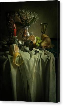 Still Life With Fruits And Flowers Canvas Print