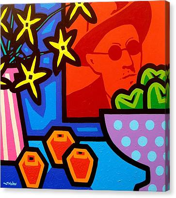 Still Life With James Joyce  Canvas Print by John  Nolan