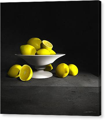 Still Life With Lemons Canvas Print by Cynthia Decker
