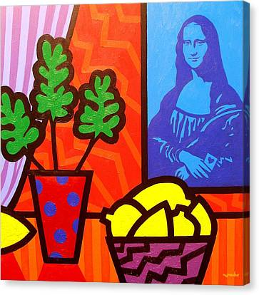 Still Life With Matisse And Mona Lisa Canvas Print by John  Nolan