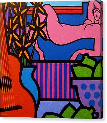 Still Life With Matisse  II Canvas Print by John  Nolan