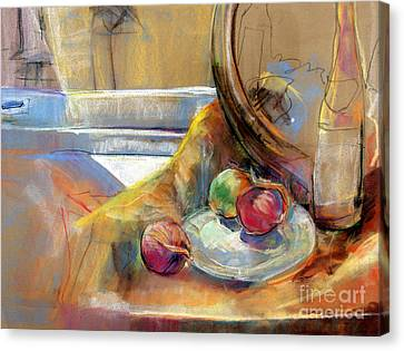 Still Life With Onions Canvas Print by Daun Soden-Greene
