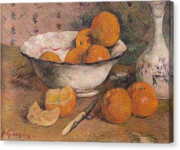 Still Life With Oranges Canvas Print by Paul Gauguin