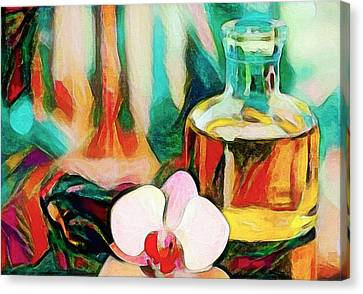 Still Life With Orchid Canvas Print