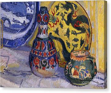 Camden Town Group Canvas Print - Still Life With Oriental Figures, 1913  by Spencer Frederick Gore