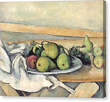 Still Life With Pears Canvas Print by Paul Cezanne