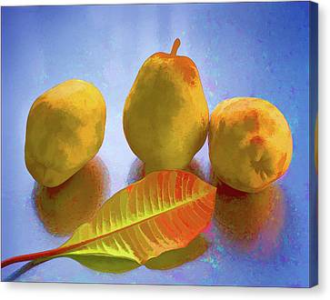 Canvas Print featuring the photograph Still Life With Pears by Vladimir Kholostykh