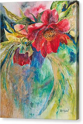 Still Life With Peonies Canvas Print by Kate Bedell