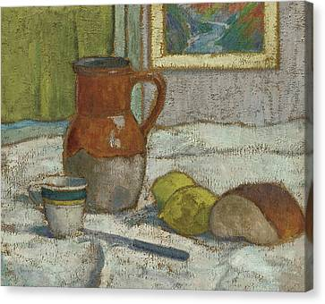 Still Life With Pitcher And Cup Canvas Print by Emile Bernard