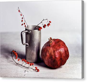 Still Life With Pomegranate Canvas Print