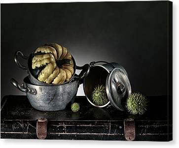 Still Life With Pumpkin Canvas Print by Nailia Schwarz
