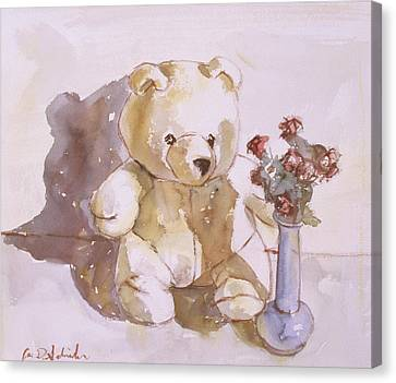 Still Life With Teddy Bear Canvas Print