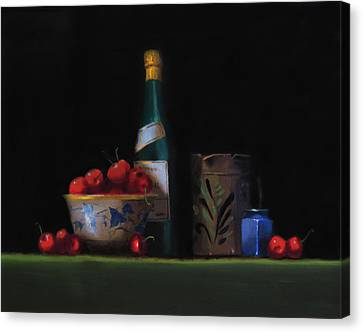 Still Life With The Alsace Jug Canvas Print by Barry Williamson