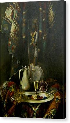 Canvas Print featuring the painting Still-life With The Kamancha by Tigran Ghulyan
