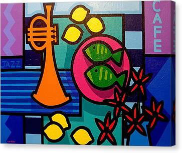 Still Life With Trumpet Canvas Print