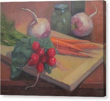 Still Life With Turnips Canvas Print by Jennifer Boswell