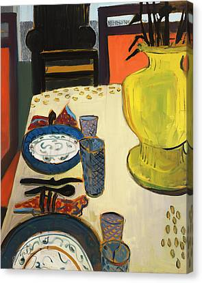Still Life With Two Plates Canvas Print