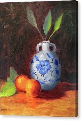 Canvas Print - Still Life With Vase And Fruit by Liberty Dickinson