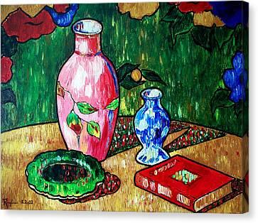 Still Life With Vase Canvas Print