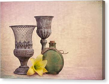 Cork Canvas Print - Still Life With Yellow Lily by Tom Mc Nemar
