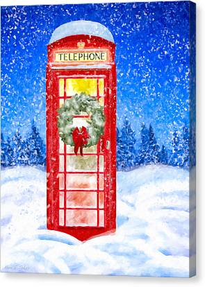 Still Night - A British Christmas Canvas Print
