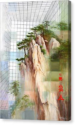 Canvas Print featuring the painting Still On The Grid by Dave Platford
