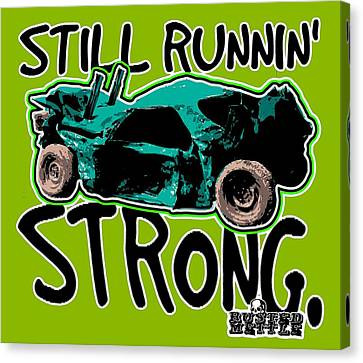 Still Runnin' Strong Canvas Print by George Randolph Miller