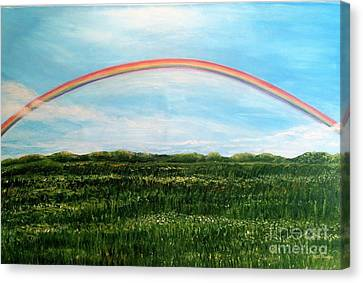 Still Searching For Somewhere Over The Rainbow? Canvas Print by Kimberlee Baxter