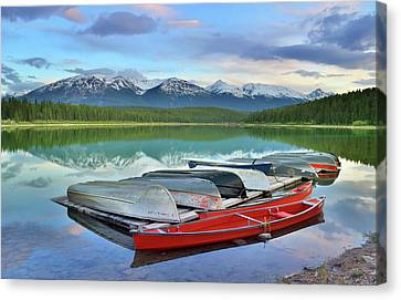 Canvas Print featuring the photograph Still Waters At Lake Patricia by Tara Turner