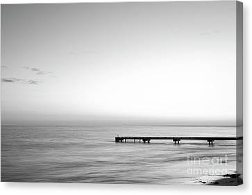 Canvas Print featuring the photograph Stillness In Black And White by Ivy Ho