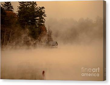 Stillness Of Autumn Canvas Print by Sherman Perry