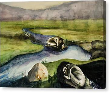 Divine Breath Canvas Print - Stillness by Sky Schulz